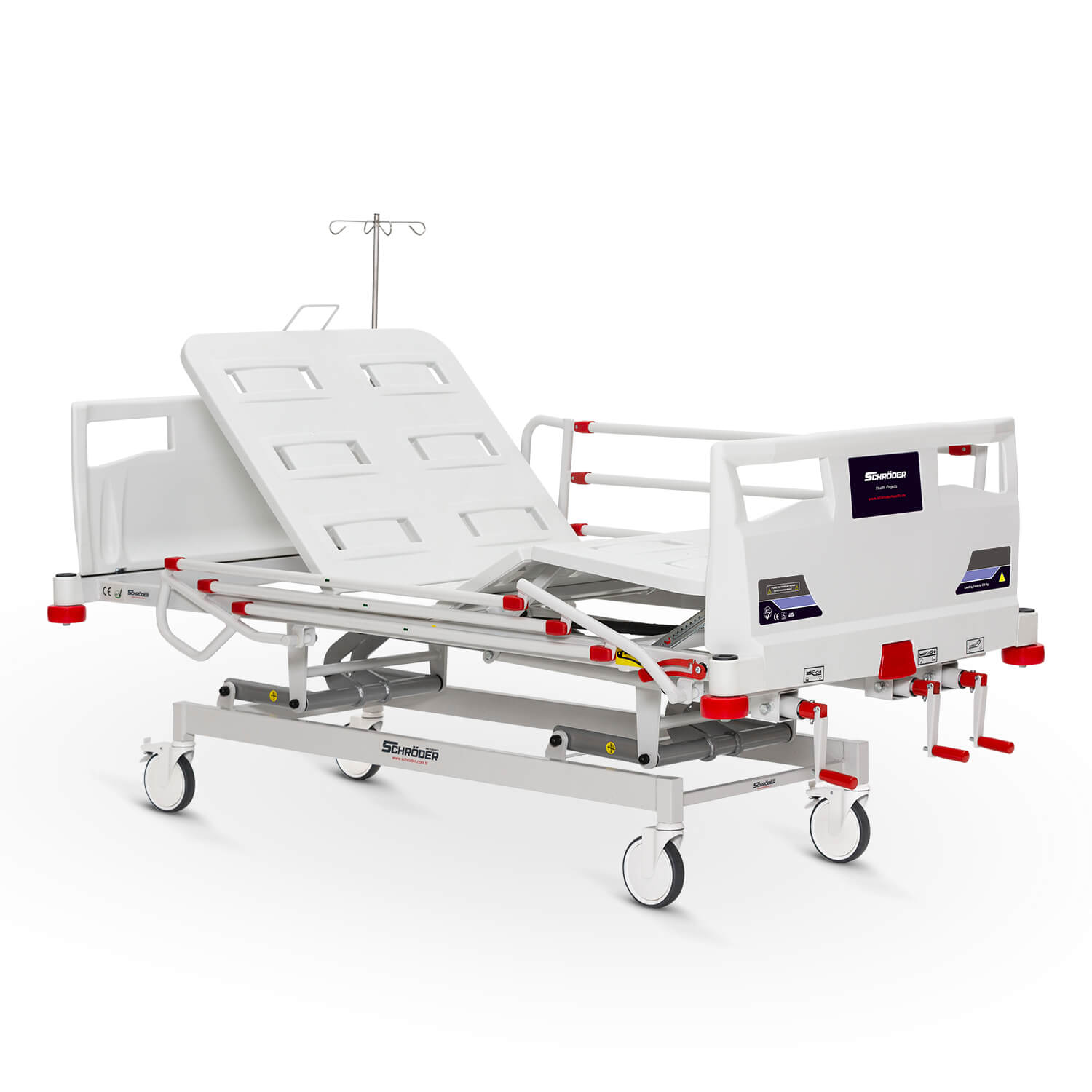 Mechanical Operated Hospital Bed, 3 Cranks