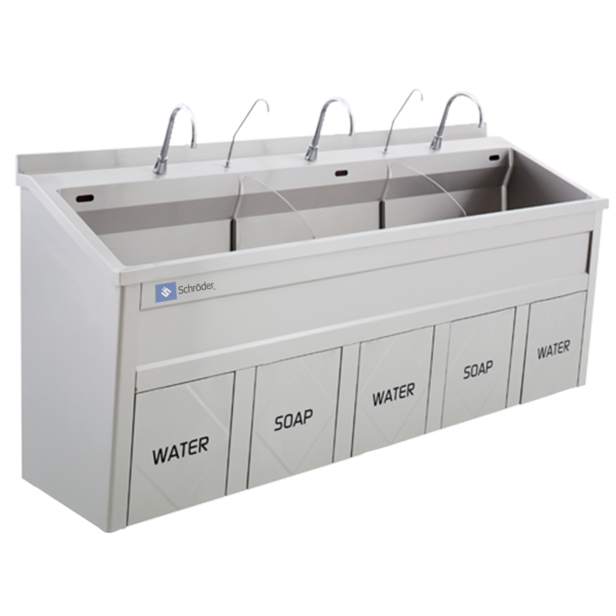 Triple Bay Scrub Sink